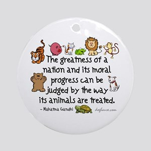 Greatness of a Nation Keepsake (Round)