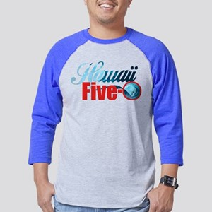 Hawaii Five O Retro Surf Mens Baseball Tee