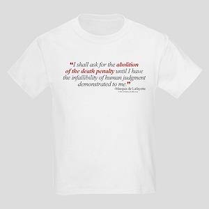 Abolish death penalty. Kids T-Shirt