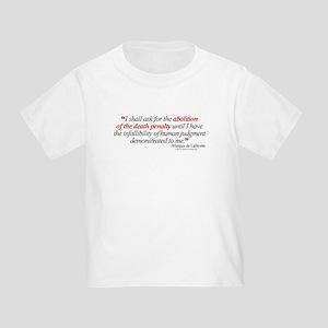 Abolish death penalty. Toddler T-Shirt
