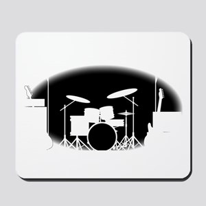 Black And White Rock Band Poster Mousepad