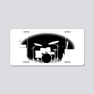 Black And White Rock Band P Aluminum License Plate