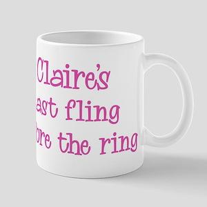 Claires last fling Mug