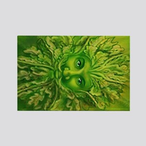 The Greenman Rectangle Magnet