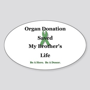 Brother Transplant Oval Sticker
