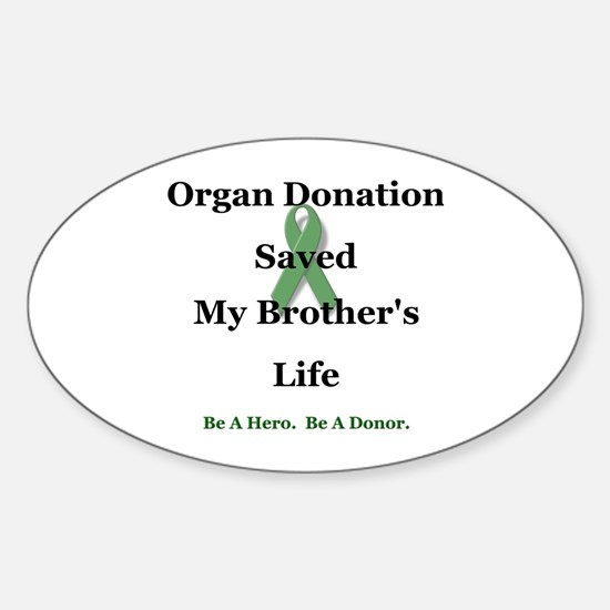 Brother Transplant Oval Decal