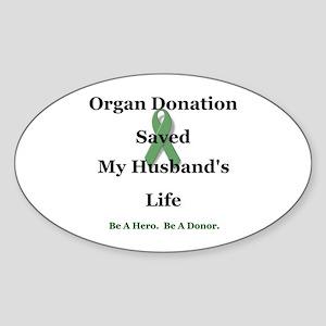 Husband Transplant Oval Sticker