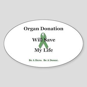 My Organ Donation Oval Sticker