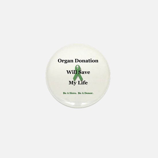 My Organ Donation Mini Button (100 pack)