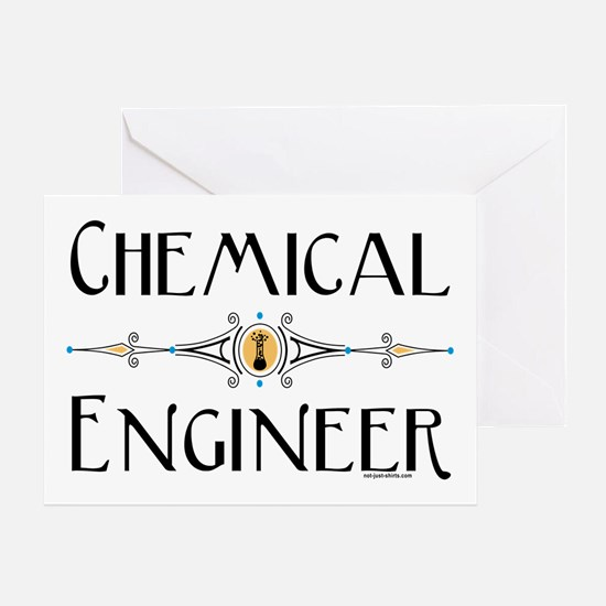Chemical Engineer Line Greeting Card