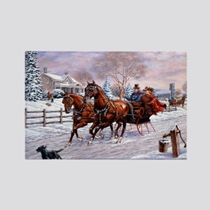 Sleigh Ride Rectangle Magnet