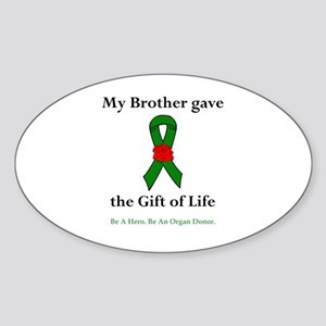 Brother Donor Oval Sticker