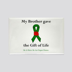 Brother Donor Rectangle Magnet