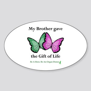 Brother Gift Oval Sticker