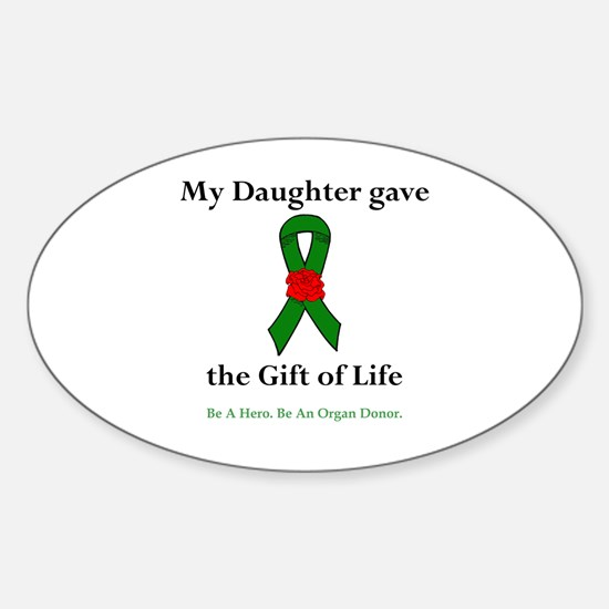 Daughter Donor Oval Sticker (10 pk)