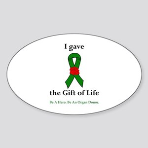 I Donor Oval Sticker