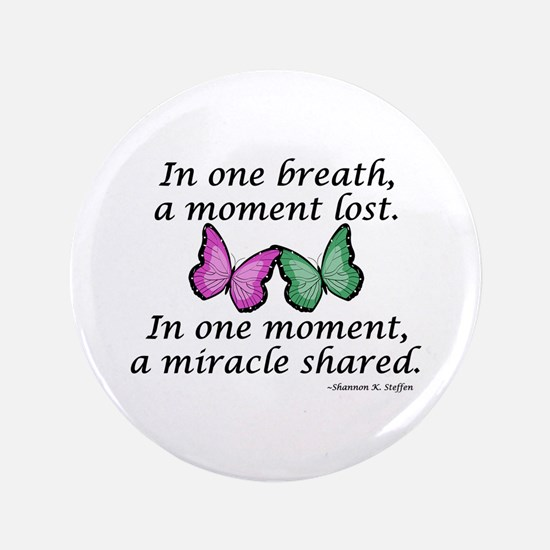 """Moment's Miracle 3.5"""" Button"""