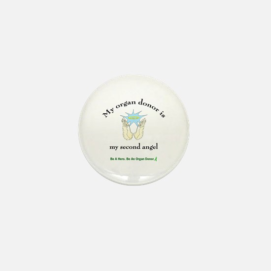 Organ Donor Angel Wings Mini Button