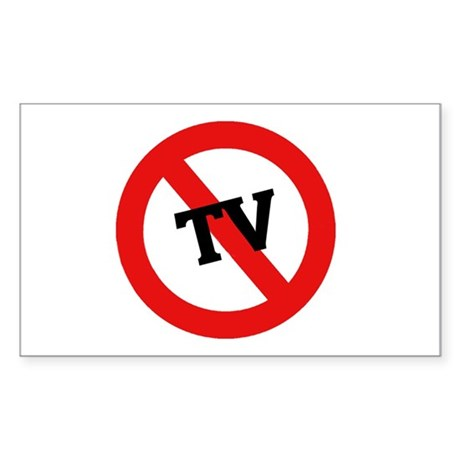 Anti Tv Rectangle Sticker