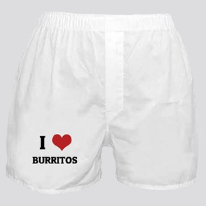 I Love Burritos Boxer Shorts