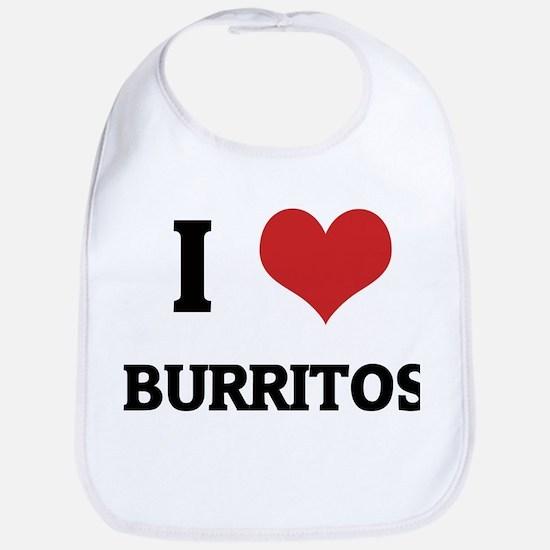 I Love Burritos Bib