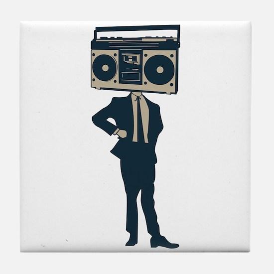Boombox Head Tile Coaster