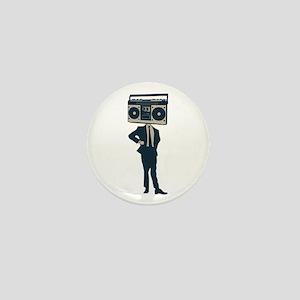 Boombox Head Mini Button