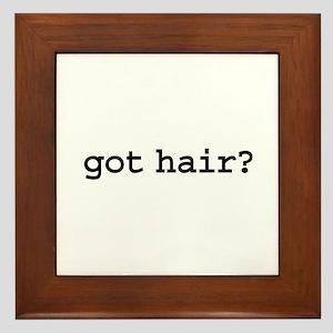 got hair? Framed Tile