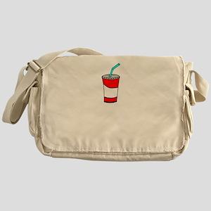 Plastic Straws Save the Plastic Stra Messenger Bag