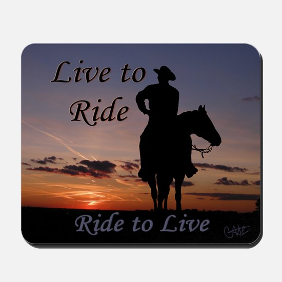 Ride to Live - Mousepad