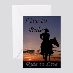 Ride to Live - Greeting Card