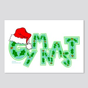 Santa Gymnast Postcards (Package of 8)
