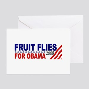 Fruit Flies for Obama Greeting Card