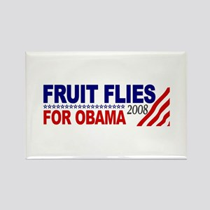 Fruit Flies for Obama Rectangle Magnet