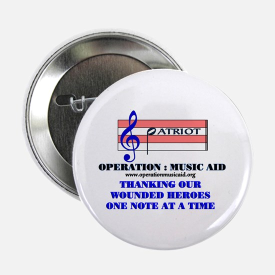 """Operation Music Aid (Patriot) 2.25"""" Button"""