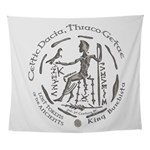 Celtic King Coin Wall Tapestry