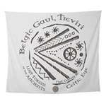 Celtic Eye Coin Wall Tapestry