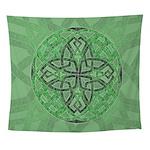 Celtic Clover Mandala Wall Tapestry