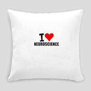 I Love Neuroscience Everyday Pillow