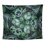 Celtic Stormy Sea Mandala Wall Tapestry