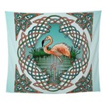 Celtic Flamingo Wall Tapestry