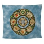 Celtic Wheel of the Year Wall Tapestry