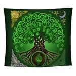 Circle Celtic Tree of Life Wall Tapestry