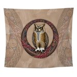 Celtic Owl Wall Tapestry