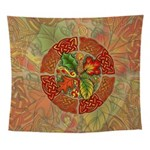 Celtic Autumn Leaves Wall Tapestry