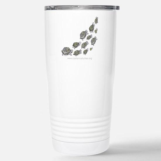 Turtle Illustration Stainless Steel Travel Mug