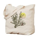 Winter Birds Reusable Canvas Tote Bag