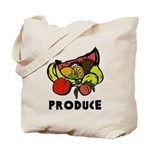 Produce Reusable Canvas Tote Bag