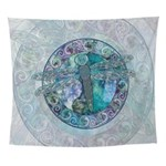 Cool Celtic Dragonfly Wall Tapestry