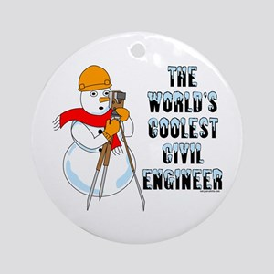 Coolest Civil Engineer Ornament (Round)